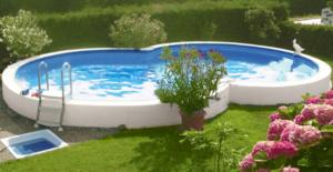 piscine in acciaio fuori terra a otto seminterrata