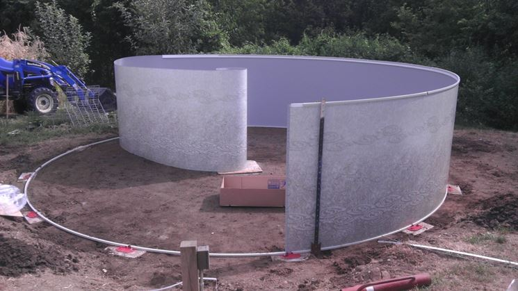 installazione piscine in acciaio fuori terra