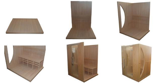 Montaggio sauna a infrarossi
