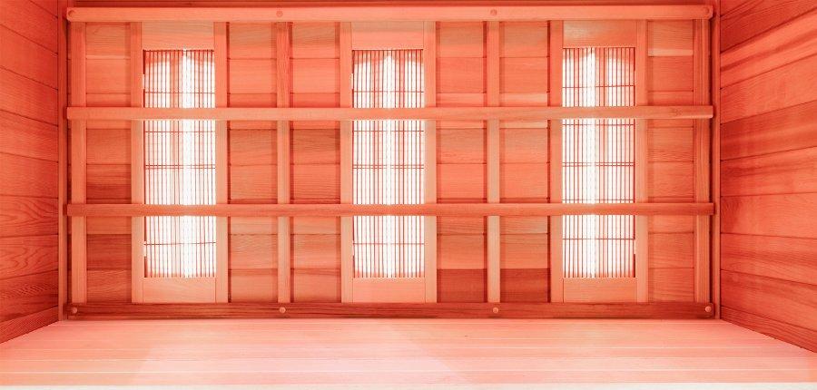 pannelli riscaldatori in sauna a infrarossi
