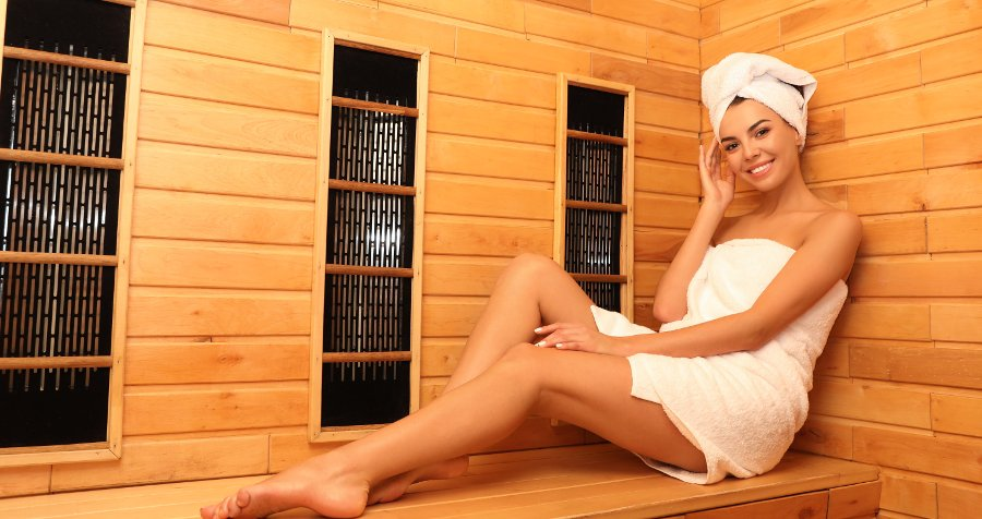 seduta sauna a infrarossi