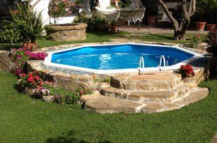 piscina seminterrata circolare