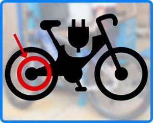 bicicletta con motore posteriore