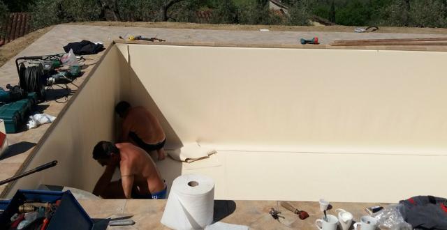 installazione rivestimento piscina in pannelli