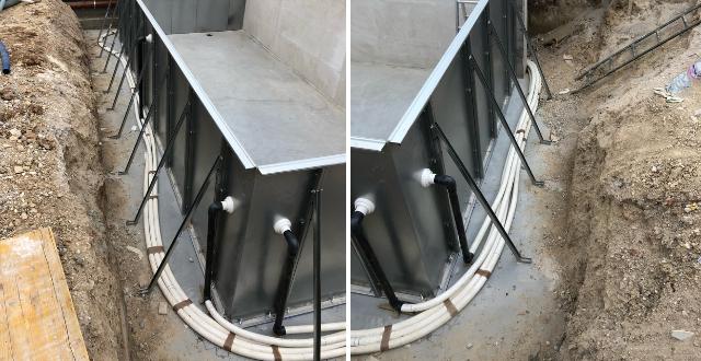 collegamenti piscina in pannelli