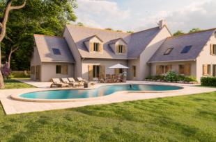 casa con piscina